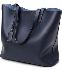 donna 2pz vintage tote bag in pelle pu ada alta fascia borsa a spalla