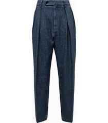 barena pantalone bonnie in misto lino
