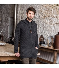 the slemish aran hoodie charcoal xl