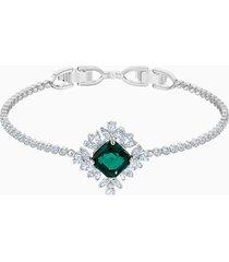 braccialetto palace, verde, placcatura rodio