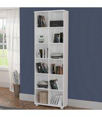 estante para livros 12 nichos 100% mdf 1289 branco - foscarini