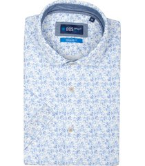 bos bright blue craig overhemd korte mouw rf 21107cr55bo/240 blue