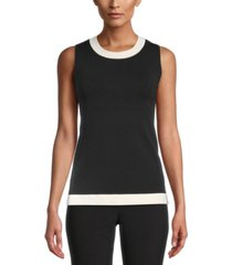 anne klein colorblocked sleeveless top