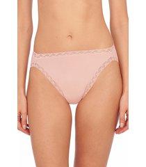 natori intimates bliss french cut brief panty, women's, 100% cotton, size l