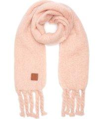 braided fringe mohair scarf