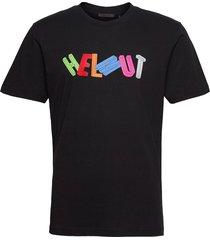 3d tee.3d helmut jsy t-shirts short-sleeved svart helmut lang