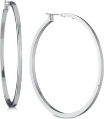 "dkny 2"" thin hoop earrings, created for macy's"