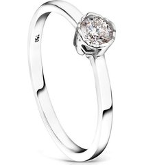 anillo boca osos de oro blanco y diamantes