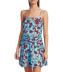 floral camisole flounce dress
