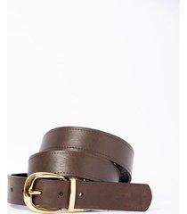 cinturón doblefaz captivo de cuero para mujer