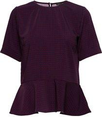 dorrs blouses short-sleeved paars stella nova