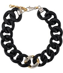 gianfranco ferré pre-owned 2000s oversized linked necklace - black