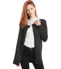 cardigan ash liso negro - calce ajustado