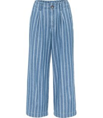 jeans cropped a righe (blu) - rainbow