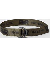 river island boys khaki ri printed belt