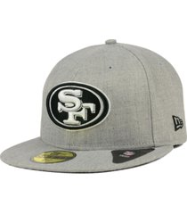 new era san francisco 49ers heather black white 59fifty fitted cap