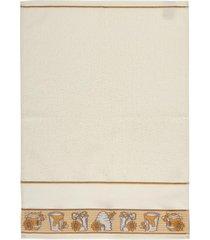 jogo de pano de copa 300 g/m² - abelinha e mel 3 peças-fiori - tricae