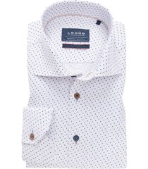 mouwlengte 7 overhemd ledub blauw wit tailored fit
