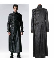 men leather coat winter long  leather coat genuine real leather trench coat-uk18