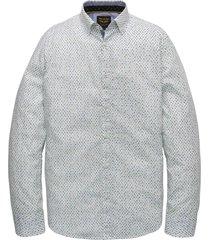 long sleeve shirt poplin print bright white