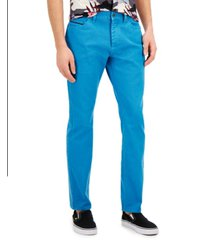 sun + stone men's slim-fit derrick garment dyed pants, created for macy's