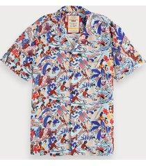 scotch & soda 100% zijden unisex hawaii overhemd | keoni