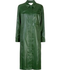3.1 phillip lim mid-length zipped overcoat - green