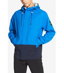 dkny men's colorblocked hooded jacket
