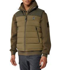 men's mackage bobbie water repellent quilted down vest, size 38 - green