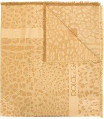 dolce & gabbana leopard print scarf - brown