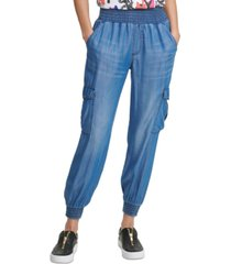 dkny jeans pull-on cargo pants
