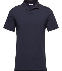 m. lycra polo t-shirt polos short-sleeved blauw filippa k