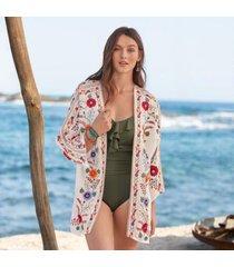 sundance catalog women's alok kimono in ecru medium