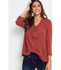 blouse met 3/4-mouwen