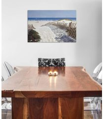 """icanvas """"walk to the beach"""" by zhen-huan lu gallery-wrapped canvas print (26 x 40 x 0.75)"""