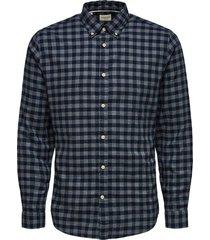 overhemd flanel blauw