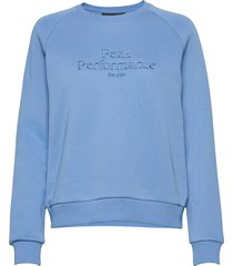 w original crew cold blush sweat-shirt trui blauw peak performance