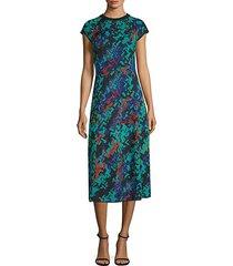 abito printed midi dress