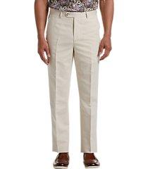 joseph abboud cream linen & cotton blend dress pants