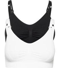 bra, seamless nursing 2-pack lingerie bras & tops maternity bras svart lindex