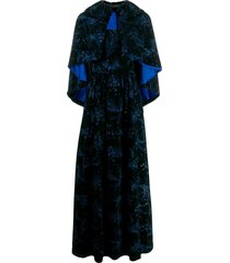 a.n.g.e.l.o. vintage cult 1950's caped gown - black