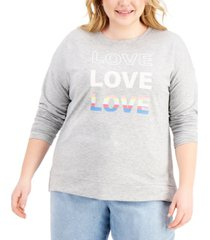 style & co love crewneck sweatshirt, created for macy's