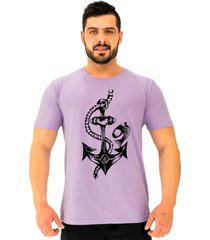 camiseta tradicional gola redonda alto conceito ancora simbolo da  roxo beb㪠- roxo - masculino - algodã£o - dafiti
