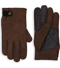 slim-fit sheepkin gloves