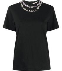 christopher kane flower crystal t-shirt - black