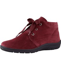 skor av mjukt skinn naturläufer bordeaux