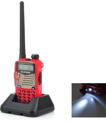 """baofeng uv-5ra lcd de 1,5"""" de doble banda 5w 128-ch walkie talkie rojo (exportación)"""