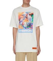 'heron birds' graphic print oversized t-shirt