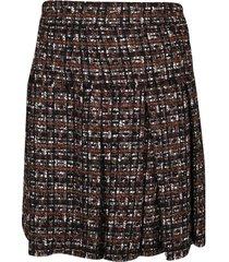 dolce & gabbana woven pleated skirt
