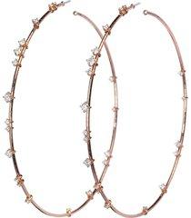 9cm rugiada diamond hoop earrings